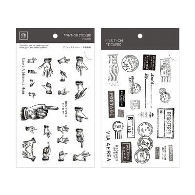 Miccudo 프린트-온 스티커 Ver.2 (2. B&W Replica)