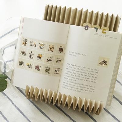 한글 자음 금속 책갈피 북마크 (24K 골드도금)