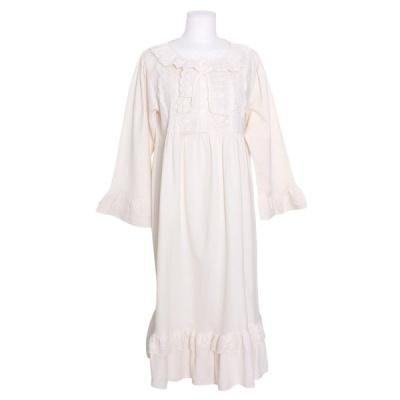 [쿠비카]양사이드 레이스 면 원피스 여성잠옷 W822