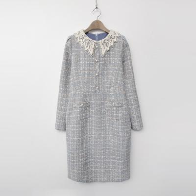 Tweed Lace Collar Dress