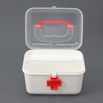 투명커버 구급함(레드) (21.5cm)