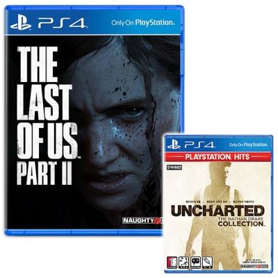 PS4 더 라스트오브어스 파트2 + 언차 콜렉션 (더블팩)