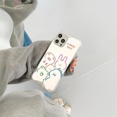 아이폰12 11 pro max xs 8 애니멀 미러 실리콘 케이스