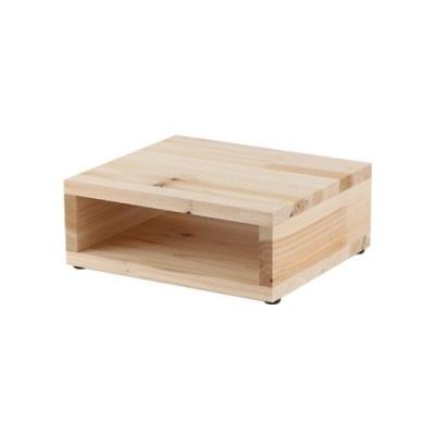 삼나무 모니터받침대 보조BOX