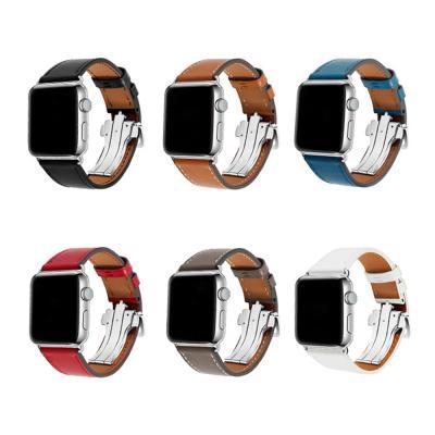 애플워치 6 5 4 3 2 1 스트랩 버터플라이 레더밴드