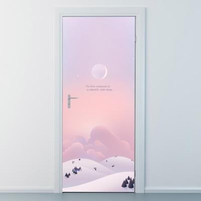 nces240-달빛아래풍경-현관문시트지