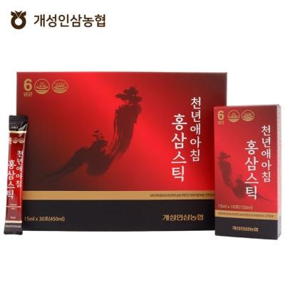 개성인삼농협 천년애아침홍삼스틱15ml x 30포