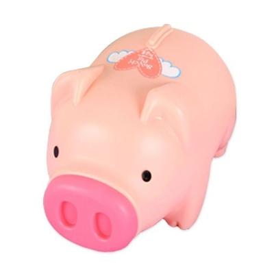 팬시 돼지저금통 핑크 왕대 동전보관함 캐쉬박스