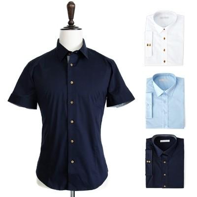 [베네]베이직 스판 반팔 셔츠