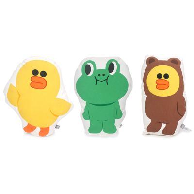 라인프렌즈 모양쿠션 - 샐리, 레너드, 샐리(브라운옷)