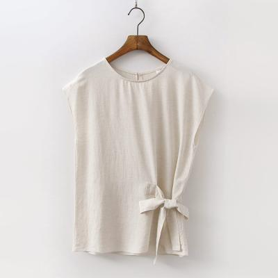 Linen Ribbon Blouse