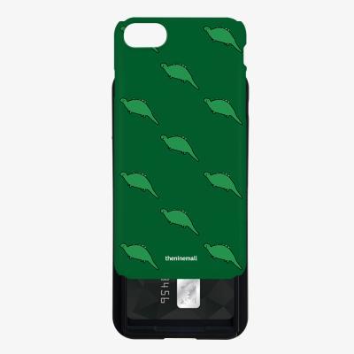 초록공룡 패턴 카드슬라이드 케이스