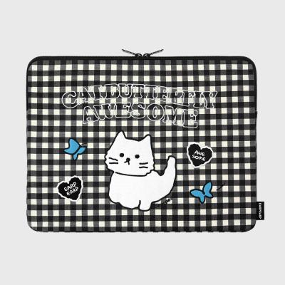 Awesome cat check-black-15inch notebook pouch