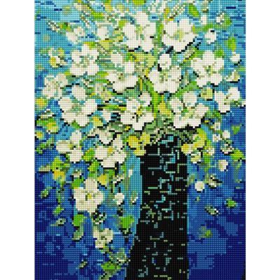 굴뚝 속 피어난 꽃 (캔버스형) 보석십자수 30x40
