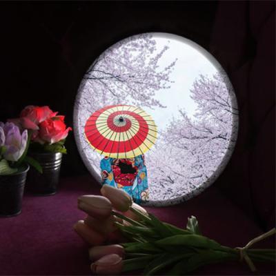 no558-LED액자25R_일본미인의벚꽃놀이