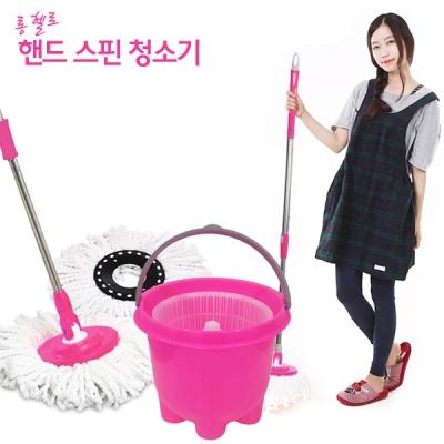 [큐티맘] 큐티 핸드스핀 극세사 청소기/걸레1장포함