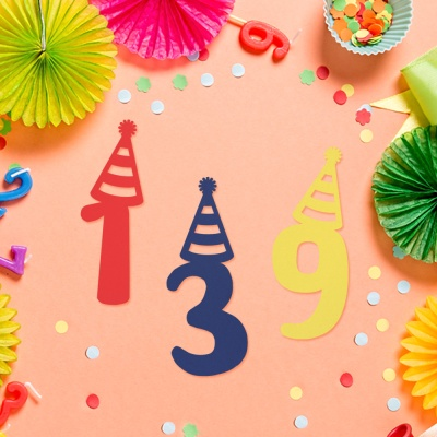 페이퍼 데코픽 (숫자) 생일고깔