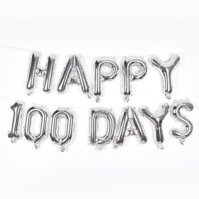 은박풍선세트 100DAYS 실버