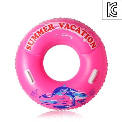 100cm 원형 손잡이 튜브(핑크)