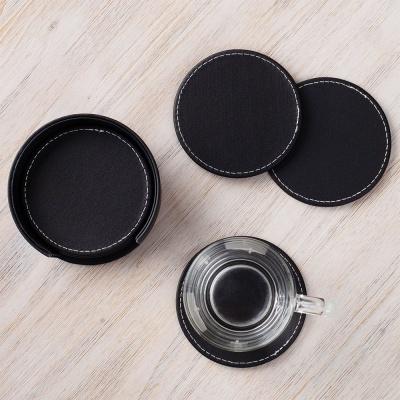텀블러 거치대 책상 컵홀더 가죽 티코스터 6P 캔들