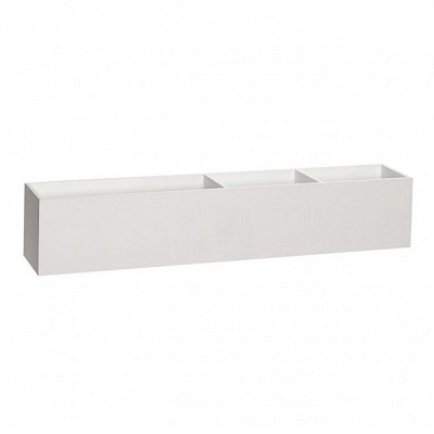 [Hubsch]Storage box w/3 compartments, wood, white 889023 스토리지박스