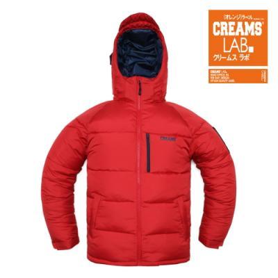 [Creams Lab] 크림스랩 정품/HOOD POKET PADDING (RED)/남여공용 패딩자켓/크림스랩패딩/패딩점퍼