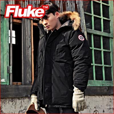 [플루크 패딩] 아라라트 리얼라쿤 헤비 야상 패딩 점퍼 블랙 FPJ1506-BLACK FLUKE 15FW