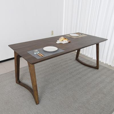 벨루 고무나무 원목 식탁 테이블 4인