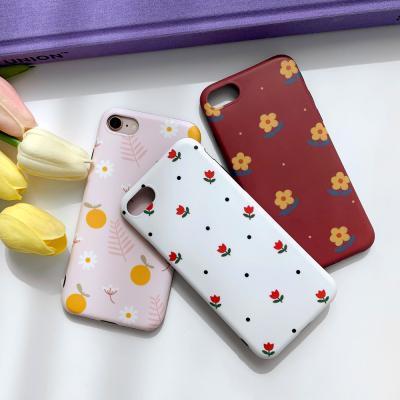 아이폰케이스 7 8 x xs xr 11 pro 리프 꽃패턴 실리콘