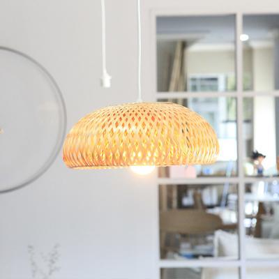 알론 라운딩 라탄 조명갓 식탁등 인테리어조명