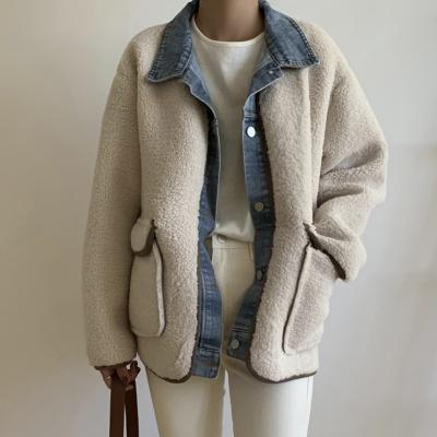 여성 가을 데일리 양털 패딩 점퍼 자켓 셔츠 레이어드