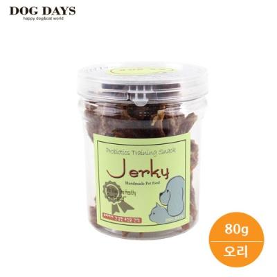 도그데이즈 강아지 유산균 수제 오리육포 간식 80g