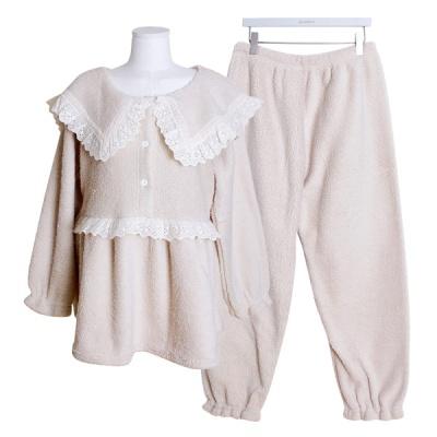 [쿠비카]인조양털 스퀘어넥 투피스 여성잠옷 W533