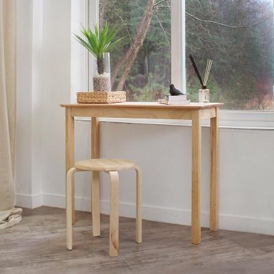 에코상사 고무나무 원목 콘솔 테이블