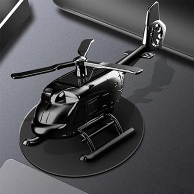 태양열 프로펠러 헬기 차량용 방향제 플라워 블랙 083