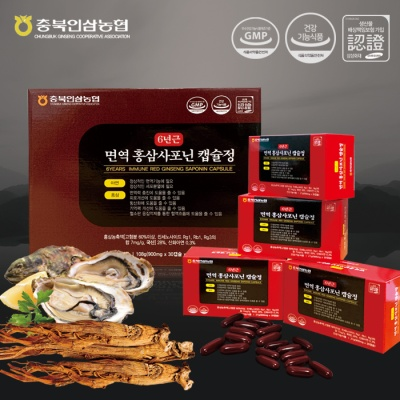 6년근 면역홍삼사포닌캡슐정 900mg 30캡슐 4box