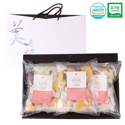 유기농쌀 오색 떡국떡 선물세트/1kgx3팩