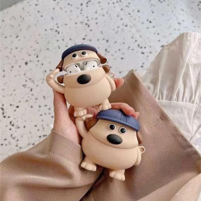 에어팟 프로/2/1 귀여운 강아지 캐릭터 실리콘 케이스