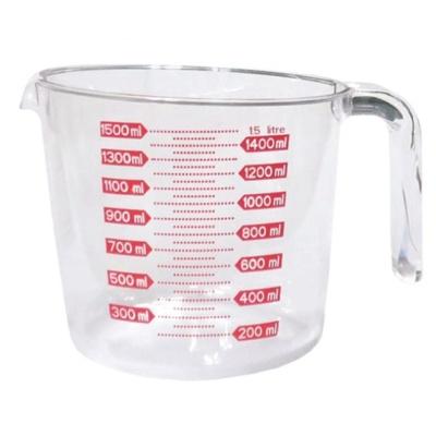 계량컵 계량기 비커 베이킹 용량컵 아크릴 투명 1.5L