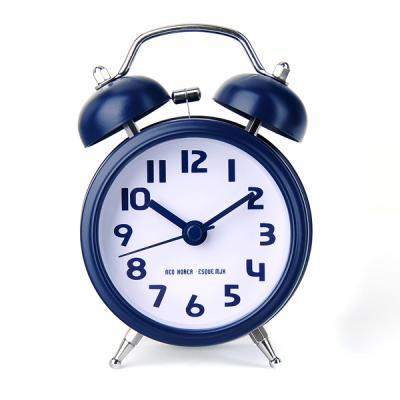 큐티 더블자명종 탁상시계 네이비