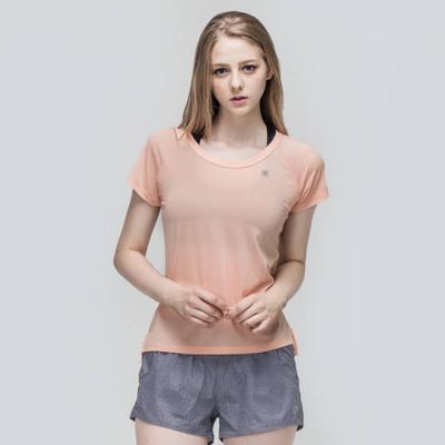 [TS7046 라이트오렌지]여성 런닝복 겸용 서플렉스 반팔 요가복