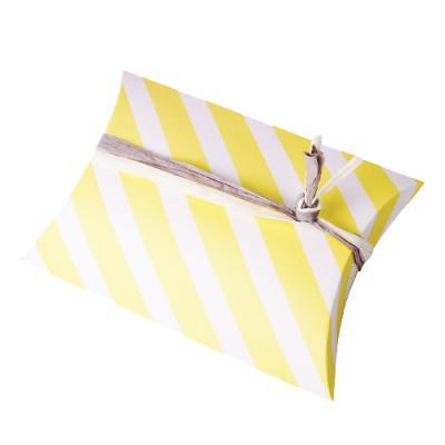 옐로우 스트라이프 반달 상자 소 (2개)