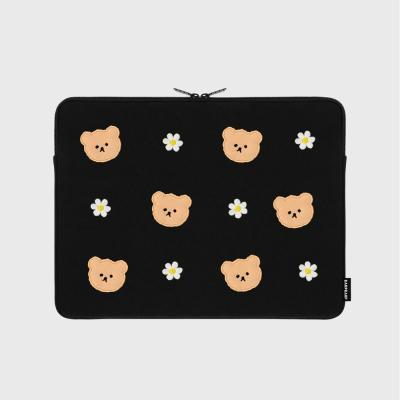[01.22 예약발송]Dot flower bear-black-13inch