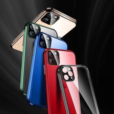 아이폰11 pro max 카메라보호 컬러 메탈 투명 케이스