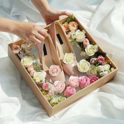 고급형 전역 꽃신 박스 여자친구선물 플라워박스 곰신