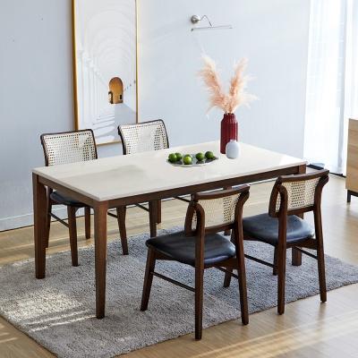 루디 데니라탄의자 4인와이드 테이블 대리석 식탁세트