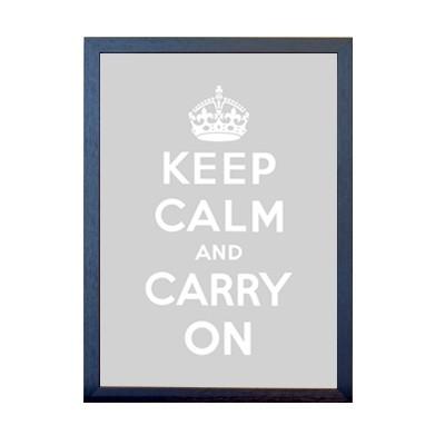 KEEP CALM 포스터 - 그레이