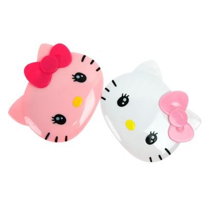 (일본직수입) 헬로키티 샤방샤방 손거울 (핑크/화이트)