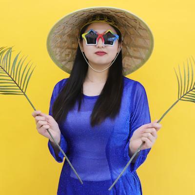베트남 아오자이 의상 L (블루)