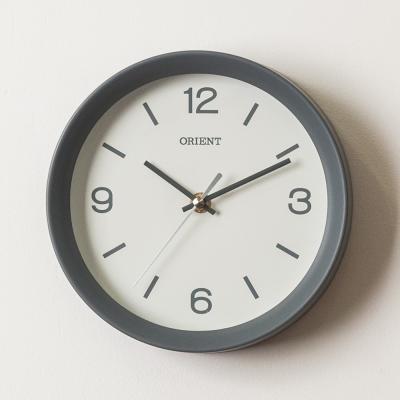 오리엔트 무소음 OT840 인테리어벽시계 그레이